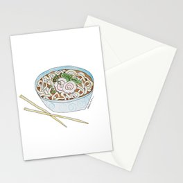 U is for Udon Soup Stationery Cards