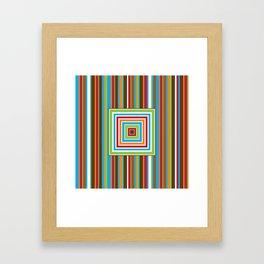 Festive Stripes Framed Art Print