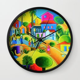 Morro da Favela by Tarsila do Amaral Wall Clock