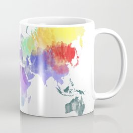 Colorful world map Coffee Mug