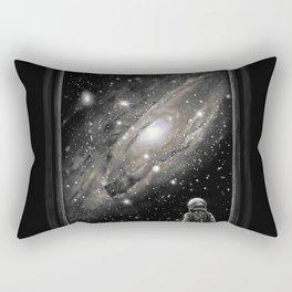 Looking Through a Masterpiece Rectangular Pillow