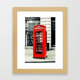 British Telephone Booth Framed Art Print