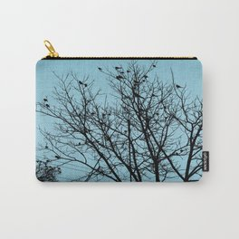 Blue Birds Silhouette Carry-All Pouch