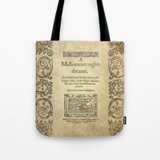Shakespeare. A midsummer night's dream, 1600 Tote Bag