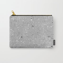 Gray Shine Texture Carry-All Pouch