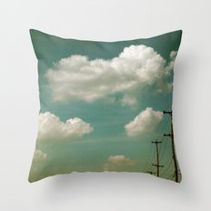 Electric Blue Throw Pillow