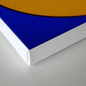 Yellow Blue Record Canvas Print