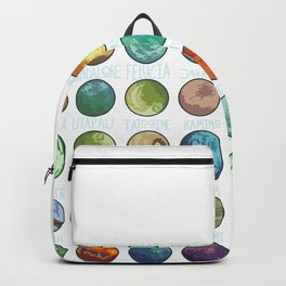 Planets Pattern Backpack