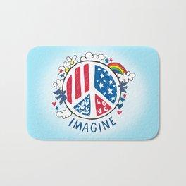 Imagine Love Imagine Peace Bath Mat