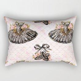 Black Tutu Ballerina Rectangular Pillow