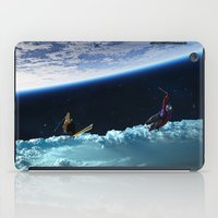 skiing iPad Cases featuring Skiing by Cs025