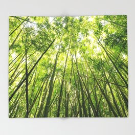 Maui Bamboo Forest Throw Blanket