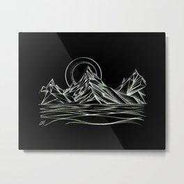 'Crystal Mountain Peaks' Metal Print