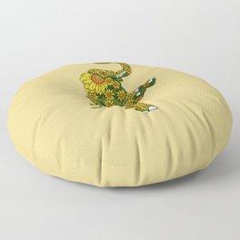 Elephant Sunflower Floor Pillow