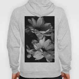 Flower and drops. Black and white. Hoody