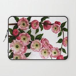 Flowering Almond Pink Floral Laptop Sleeve
