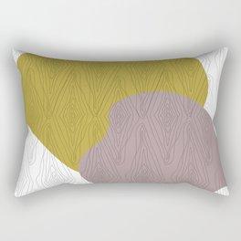 Yellow + Pink Wood Grain Texture Rectangular Pillow