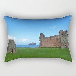 Bass Rock from Tantallon Castle, North Berwick, Scotland Rectangular Pillow