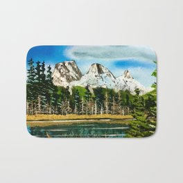 Three Sisters Canmore Alberta Bath Mat