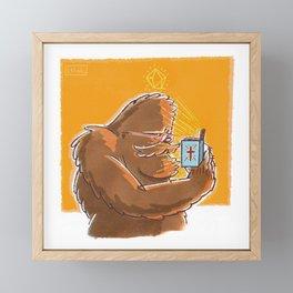 Good Book Bigfoot Framed Mini Art Print