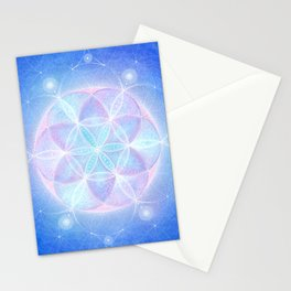 Light Frequency Mandala Stationery Cards
