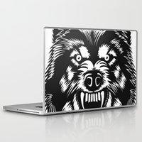 bad wolf Laptop & iPad Skins featuring big bad wolf II by Taranta Babu