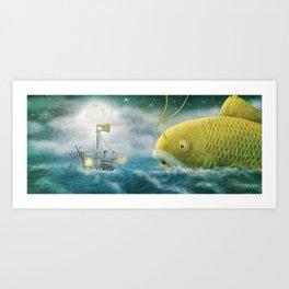 Finn and Grandfish Art Print