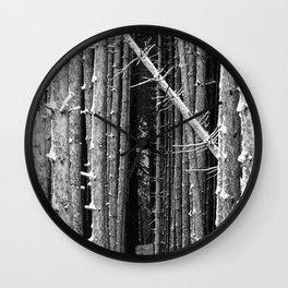 Crossing lines BW Wall Clock