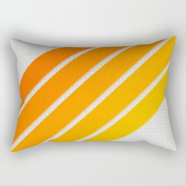 Orange Color Drift Rectangular Pillow