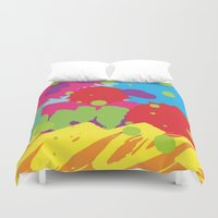 graffiti Duvet Covers featuring Graffiti by rivercbishop
