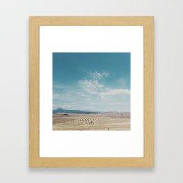 Overberg farmlands, South Africa Framed Art Print