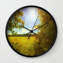 Sun Flare. Wall Clock
