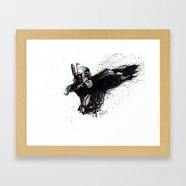 BOBA FETT INKS Framed Art Print