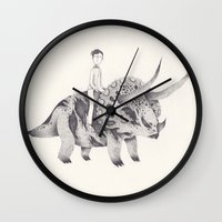 doctor Wall Clocks featuring doctor who by yohan sacre