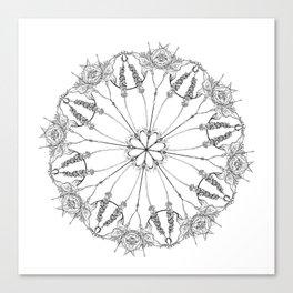 Flower Lace Canvas Print