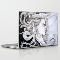 medusa Laptop & iPad Skins featuring Medusa by Alux Medina