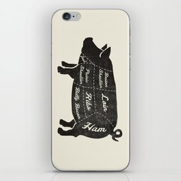 PORK BUTCHER DIAGRAM (pig) iPhone Skin