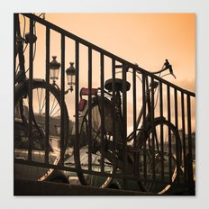 Bike in Paris Canvas Print