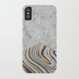 Concrete Arrow - Blue Marble #177 iPhone Case
