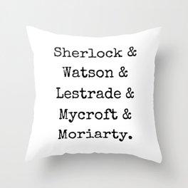 Guys of Sherlock Throw Pillow