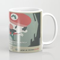 mario bros Mugs featuring mario bros 4 fan art by danvinci