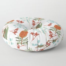 Australian Botanicals - White Floor Pillow
