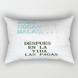 SI ASES COSAS MALAS.. (3D) Rectangular Pillow