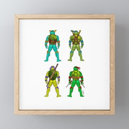 Superhero Butts - Turtles Framed Mini Art Print
