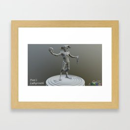 Pan 3D Framed Art Print