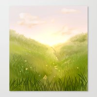 aperture Canvas Prints featuring Aperture Meadow by molmcintosh