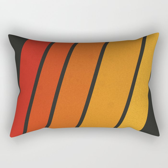 Retro 70s Stripes Rectangular Pillow