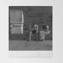 Sitting Among the Colosseum Ruins  Throw Blanket