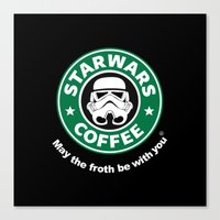 coffe Canvas Prints featuring SW Coffe by ismaeledits