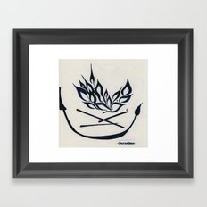 by the campfire Framed Art Print